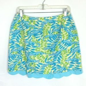 LILLY PULITZER | Scalloped Aligator Print Skirt